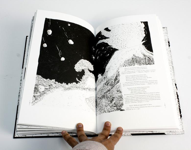 Pages 94 & 95 des Cosmogoniales : un chant de Silène